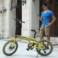 耐嘛20寸双碟刹折叠7速城市休闲山地车 学生儿童成人自行车单车