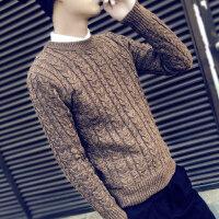 慈姑冬季毛衣男韩版针织衫学生圆领修身套头打底衫个性男士秋季线衣潮