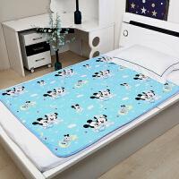 隔尿垫大婴儿防水可洗纯棉透气超号儿童姨妈月经床垫宝宝 天蓝色 蓝米奇