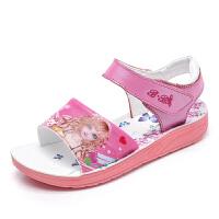 女童公主凉鞋夏季新款女宝宝沙滩鞋贝尔公主卡通童鞋