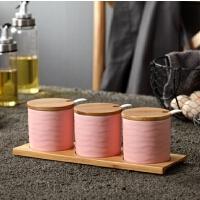 厨房用品陶瓷调味罐三件套创意佐料瓶调料盒套装家用