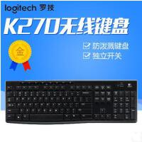 罗技K270多媒体无线键盘大小写指示灯带开关商务办公家用省电优联