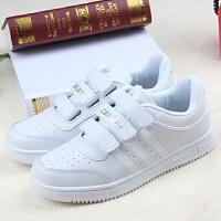 儿童校鞋学校小学生校鞋白色运动鞋 男女透气初中学生鞋 白色