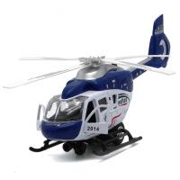 儿童玩具直升机合金模型 灯光音乐螺旋桨回力转动 24CM规格