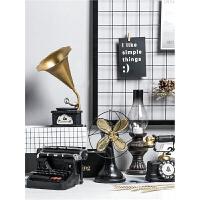 怀旧复古摆件留声机美式创意家居客厅酒柜装饰品卧室内小摆设