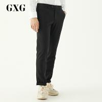 GXG西裤男装 男士韩版青年休闲潮流黑色直筒套西西裤