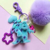 车钥匙挂件扣男女士毛怪苏利文时尚韩国创意可爱个性毛绒挂饰