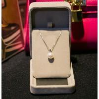 纯银s925项链 珍珠吊坠锁骨链女细银链女士日韩简约银饰品送妈妈