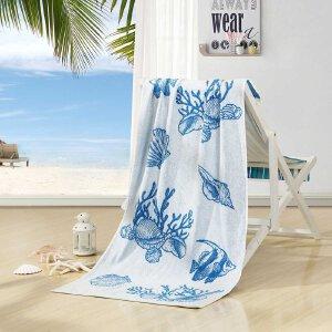 【每满150减50】水星家纺 哈迪尔进口巴基斯坦全棉提花浴巾成人情侣加大 新品