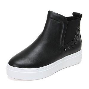 Teenmix/天美意牛皮女休闲靴1H-A6DD6