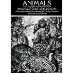 【预订】Animals: 1,419 Copyright-Free Illustrations of