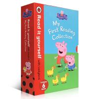 Peppa Pig英文原版绘本动画片粉红佩佩猪小妹6册my first reading Ladybird小瓢虫0-5岁