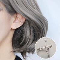 十二星座守护S925耳夹耳骨夹无耳洞耳钉耳环耳饰礼物女