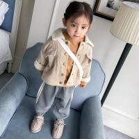 女童外套加厚秋冬装2018 新款儿童宝宝加绒上衣棉衣冬装1-2-3-4岁
