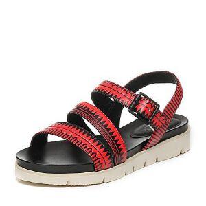 JoyPeace真美诗夏季专柜同款羊皮女凉鞋ZJ110BL6