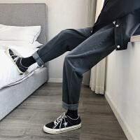 牛仔裤男士潮牌2020春秋款韩版宽松休闲百搭九分男裤阔腿直筒长裤