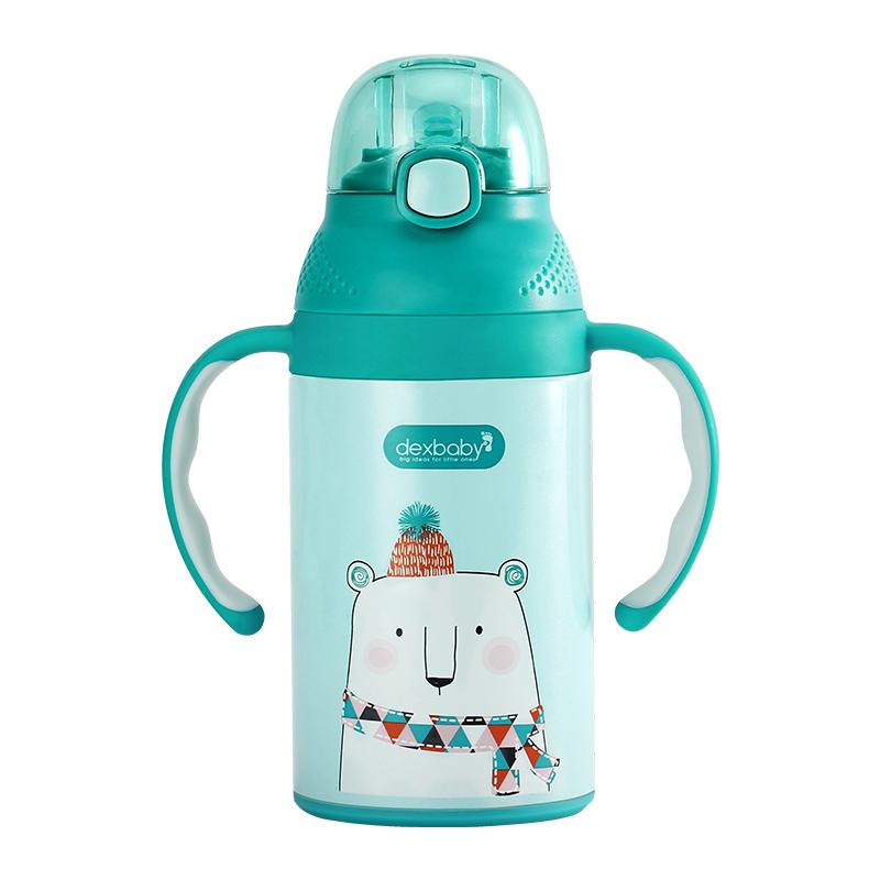 带手柄婴儿水杯 儿童水壶 吸管杯宝宝保温杯学饮杯