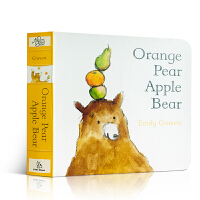 【全店300减100】英文原版绘本 Orange Pear Apple Bear 橘子 梨 苹果 熊纸板书 格林威奖作家
