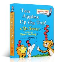 【现货】进口英文原版 Ten Apples Up on Top! 苏斯博士学会数数纸板书 Bright and Ear