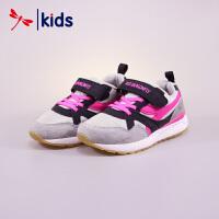 红蜻蜓童鞋春秋款女童中童复古回潮运动鞋