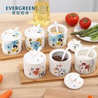 Evergreen爱屋格林爱屋格林美式陶瓷调味罐调料盒调味瓶三件套装创意家居厨房用品