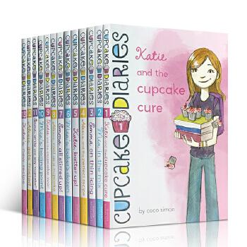 英文原版绘本The CUPCAKE BAKERS Diaries Dozen Collection 蛋糕烘焙师盒装13册 甜蜜的图文故事书 品尝英语学习的乐趣