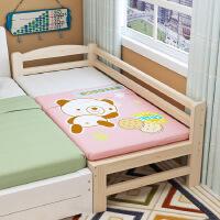 【限时直降】祥然 全实木松木环保加宽全加长床 儿童单人床拼接宝宝床带护栏儿童边床