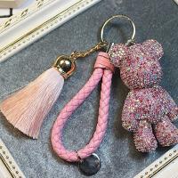 牌镶钻暴力熊公仔汽车钥匙扣男女士情侣钥匙链包包挂件情人节礼物