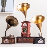 复古创意留声机小摆件美式家居室内客厅咖啡厅酒柜装饰品摆设