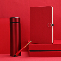 商务笔记本套装礼盒记事本礼品套装会议纪念品本子定做商端创意笔记本定制logo红色笔记本子和笔盒装定制