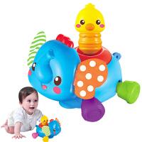 婴儿电动欢乐爬行小象婴幼儿学爬行健身宝宝学爬玩具6-12个月