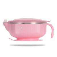 婴幼儿童餐具不锈钢碗勺套装 吸盘碗宝宝辅食碗注水保温碗