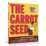 英文原版 进口正版 The Carrot Seed 吴敏兰绘本123 胡萝卜种子 阿罗的故事幼儿亲子英语启蒙 亲子认知