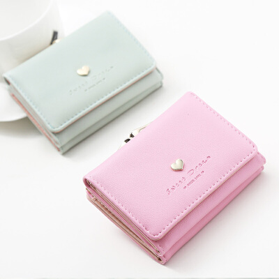 钱包女短款潮个性学生可爱小清新折叠零钱包