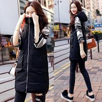 棉衣马甲女士短外套冬季新品女装韩版修身气质毛领马甲背心外套潮