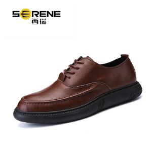 西瑞商务休闲皮鞋时尚男士真皮潮鞋低帮正装鞋ZC7105