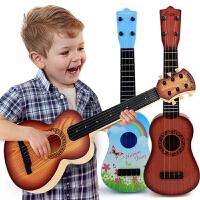 尤克里里初学者儿童吉他玩具可弹奏男孩宝宝乐器1-3-6岁小孩女孩