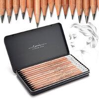 马可雷诺阿素描铅笔套装全套学生2h-8b专业美术绘画专用2b4b6b8b学生用马克画画笔hb2比铅笔初学者美术用品
