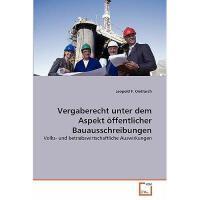 【预订】Vergaberecht Unter Dem Aspekt Ffentlicher