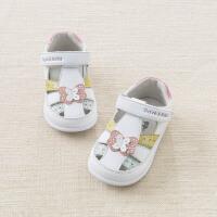 [2件3折价:69]戴维贝拉春夏新款女童皮凉鞋 女宝宝卡通凉鞋DB6989
