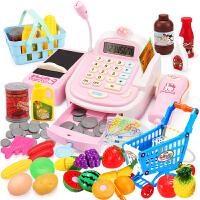 儿童收银机玩具女孩宝宝过家家仿真超市收银台3-6周岁7女童公主5