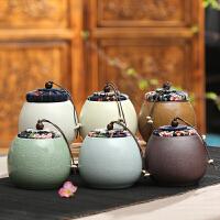 茶叶罐小号 陶瓷存茶罐便捷迷你密封存储罐紫砂