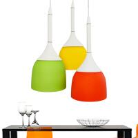 祺家  餐厅吊灯现代简约多色餐厅灯时尚三头餐吊灯具ID03