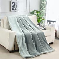 小毛毯珊瑚绒毛毯被子盖毯午睡午休小毯子办公室毯羊羔绒双层加厚