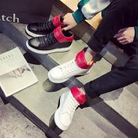 CUM 潮牌秋季百搭韩版男鞋增高白色高帮运动鞋男休闲鞋子男潮鞋高帮板鞋男