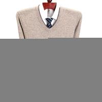 纯羊绒衫男V领加厚中年商务鸡心领羊毛衫爸爸毛衣
