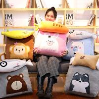 创意香蕉胡萝卜两用抱枕公仔毛绒玩具韩国搞怪睡觉靠垫枕头女生