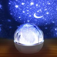 床头灯小夜灯卧室插电台灯创意浪漫梦幻睡眠灯充电投影月球星空灯