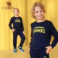骆驼童装男童套装舒适时尚印花儿童中大童卫衣两件套学生运动潮衣