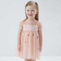 戴维贝拉童装女童连衣裙2021夏季新款宝宝公主裙儿童洋气网纱裙